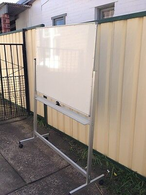 Whiteboard Mobile on Wheels Double Sided Mint Cond