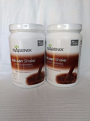 2x Isagenix Chocolate Isalean Nutritional Protein Shake Meal Replacement