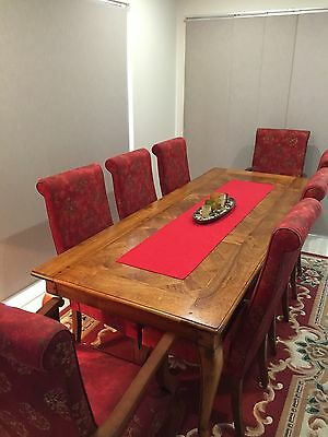 Antique Silky Oak Dining Table (Chairs Thrown In)