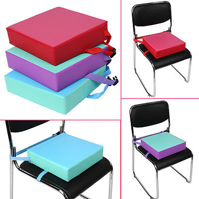 Increased High Chair Seat Pad Cushion Safe Booster Dining With Buckle Straps