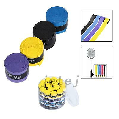 60PCS Absorb sweat stretchy Tennis Squash Racquet Band Grip Tape Overgrip JE