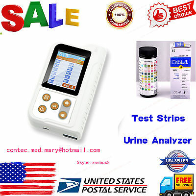 USA Portable Urine Analyzer,11-paras Urine test,100pcs Test strip,USB+Bluetooth