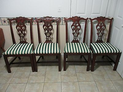 4 -  Hickory  Chair Co.  Chippendale Style  Side  Chairs,  Located  In  Pa.
