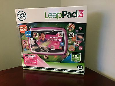 Leapfrog Leappad 3 Pink Leap Pad 3 Tablet 4 Gb Wifi Rechargeable Battery New