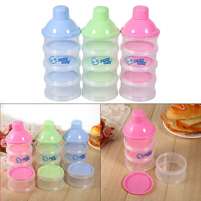 4 Layers Portable Infant Baby Milk Powder Dispenser Boxes Container Food Storage