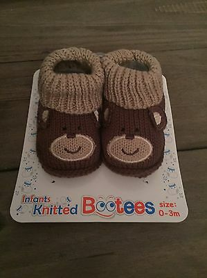 Baby Boy Knitted Booties
