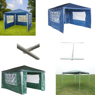 Waterproof 3m x 4m PE Outdoor Garden Gazebo Party Tent Marquee Awning Canopy New