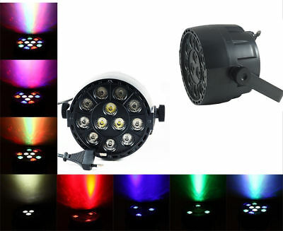 Proiettore 12 Led Rgb Dmx 512 Mini Par Light Faro Faretto 30W Feste Disco Eventi