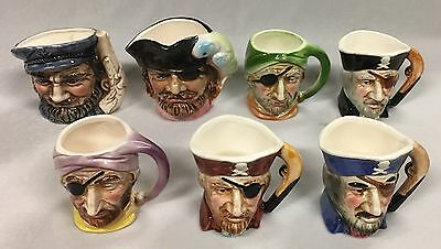 Vintage Assorted Character Jugs of Various Sizes Made in Japan