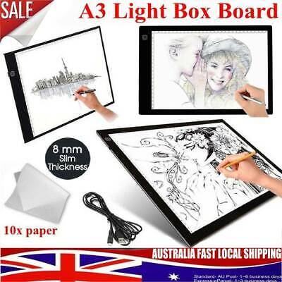 A3 LED Light Box Tracing Board Art Design Stencil Drawing Pattern Pad Lightbox