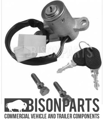 """Fits Iveco Eurocargo Eurostar Eurotech Steering Ignition Lock Key & Barell New"