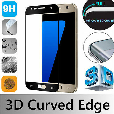 Black 3D Full Cover Gorilla Tempered Glass Screen Protector For Samsung Phones