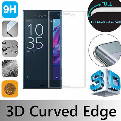 Clear 3D Full Cover Gorilla Tempered Glass Screen Protector For SONY Phones