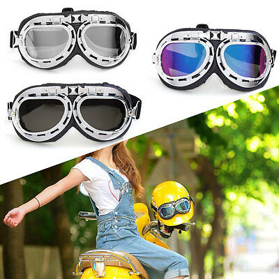 New Retro Vintage Aviator Pilot Bike Motorcycle Cycling Goggles Eyewear Glasses
