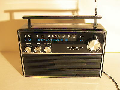KOYO KTR-1251 AC, Solid State, vintage AM/FM radio made in Japan (ref 688)