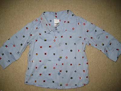 Baby Boy Long Sleeve Nautical Collar Shirt BRAND NEW Size 0