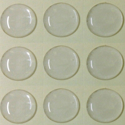 20Pcs Round Clear Epoxy Resin Self Adhesive Domed Cabochon Bottle Cap Dome 25mm