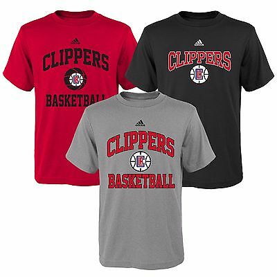 Youths Small LA Clippers 3 Pack of adidas T-Shirts H326