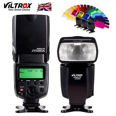 Viltrox JY-680A LCD Flash Speedlite + Color Gels Filters for Canon Nikon Pentax