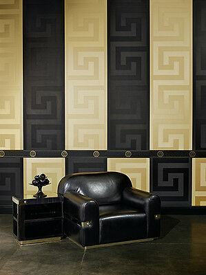 Versace Wallpaper - Home Collection - Greek Key - Wider Width Wallpaper/ border