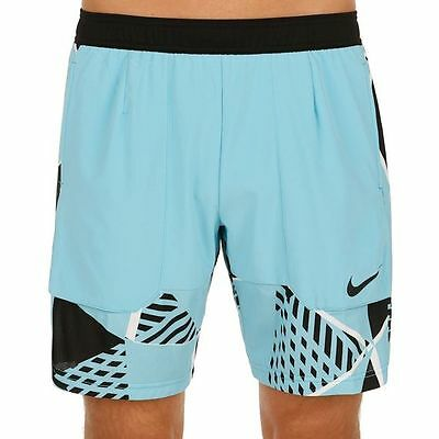 """NIKE NIKECOURT DRY MEN'S 9"""" TENNIS SHORTS BLUE NEW 830935-432 S and M"""