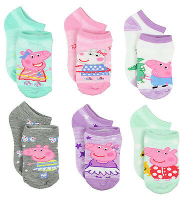 Peppa Pig Girls 6 pack Socks PP013GNS