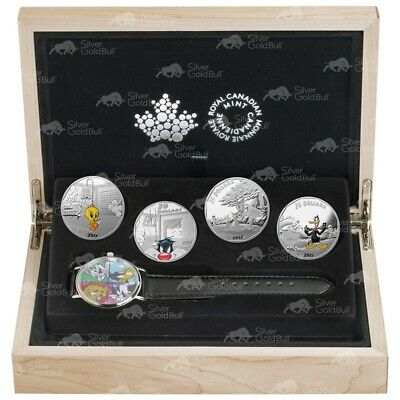 Set of 4 x 1 oz 2015 Looney Tunes™ Wrist Watch Silver Proof Coins