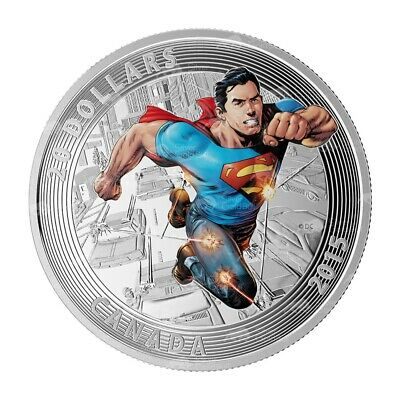 1 oz 2015 Iconic Superman™ Comic Book Covers   Action Comics #1 Silver Coin