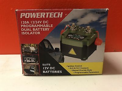NEW 120A 12/24VDC Programmable Dual Battery Isolator MB3688