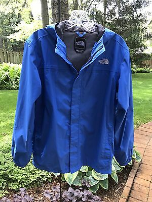 The North Face HyVent Blue Waterproof Rain Coat Jacket Boys Youth XL Extra Large