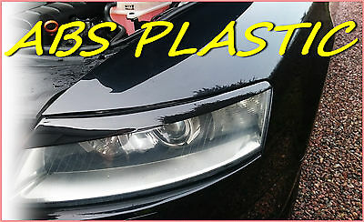 Audi A6 C6 2004-2011 Headlight Brows Eyelids Eyebrows Abs Plastic Trims Tuning