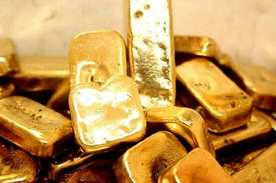 872 grams gold recovery gold bar Melted Drop Scrap plated Recovered cpu 2017 NEW