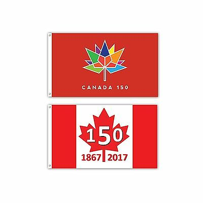 2 Pack -- Canada 150 Flag -- 3x5ft Commemorative Canada Flag