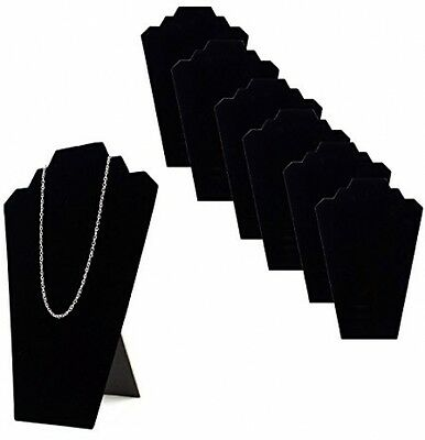 Velvet Padded Necklace Easels Jewelry Display Showcase Tower Stand Black 6 pcs