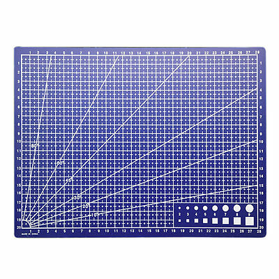 A4 Double Cutting Plate Grid Lines Cutting Mats Craft Card Office 30*22cm GH