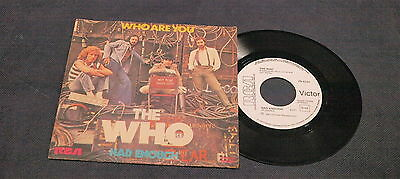 7 45 Promo White Label The Who Who Are You Had Enough Very Rare