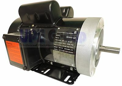 1.5 HP Electric Motor 56C 1PH  TEFC 115/230 Volt 1750/1800 RPM GENERAL PURPOSE
