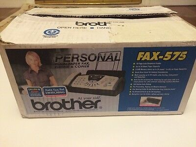 Brother Personal Plain Paper Fax, Phone & Copier Fax 575 New in Box Opened