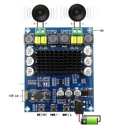TPA3116D2 120Wx2 Wireless Bluetooth 4.0 Audio Receiver Digital Amplifier Board S