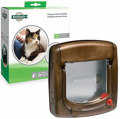 Staywell PetSafe 320EF 4 Way Locking Brown Cat Flap Door