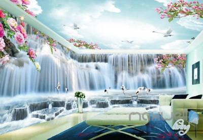 3D Peony Flower Large Waterfall Entire Living Room Bedroom Wallpaper Wall Mural