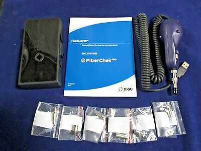 JDSU P5000I FiberChek Pro Fiber Microscope W/ 6 Tips NEW