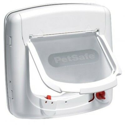 PetSafe Staywell Infra Red 4 Way Locking Deluxe Cat Flap Door - White 500EF