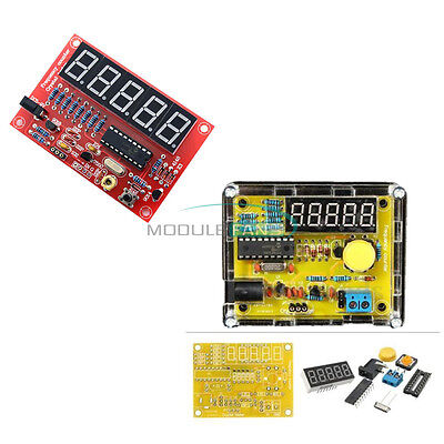1Hz-50MHz Crystal Oscillator Tester Frequency Counter DIY Kits Meter w/Case top