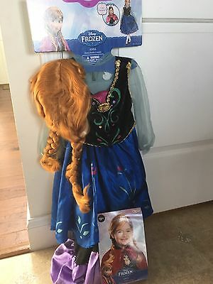 Disguise Disney Frozen Anna Classic Girls Costume, 3T-4T Cape Included & Wig