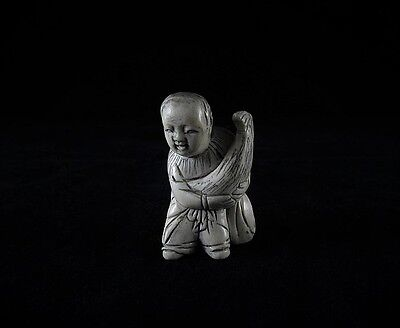Antique chinese bone Netsuke - Antico Netsuke cinese in osso
