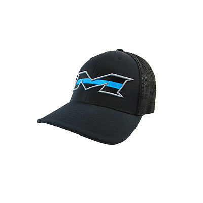 Miken Hat by Pacific 404M Black/SILVER/Blue Stripe SM/MD (6 7/8- 7 3/8), NEW