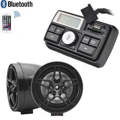 3'' UTV ATV WAKEBOARD Waterproof Marine Speakers Bluetooth Audio System