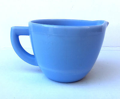 Rare Mckee Delphite Delfite Blue 2-Cup Measure Measuring Pitcher Free Shipping