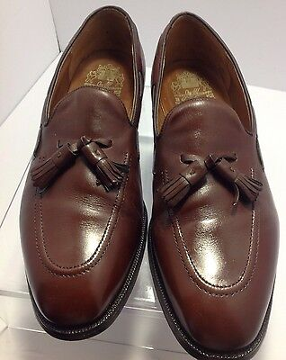 Johnston&Murphy aristocraft size 10 brown leather slip on men's shoes
